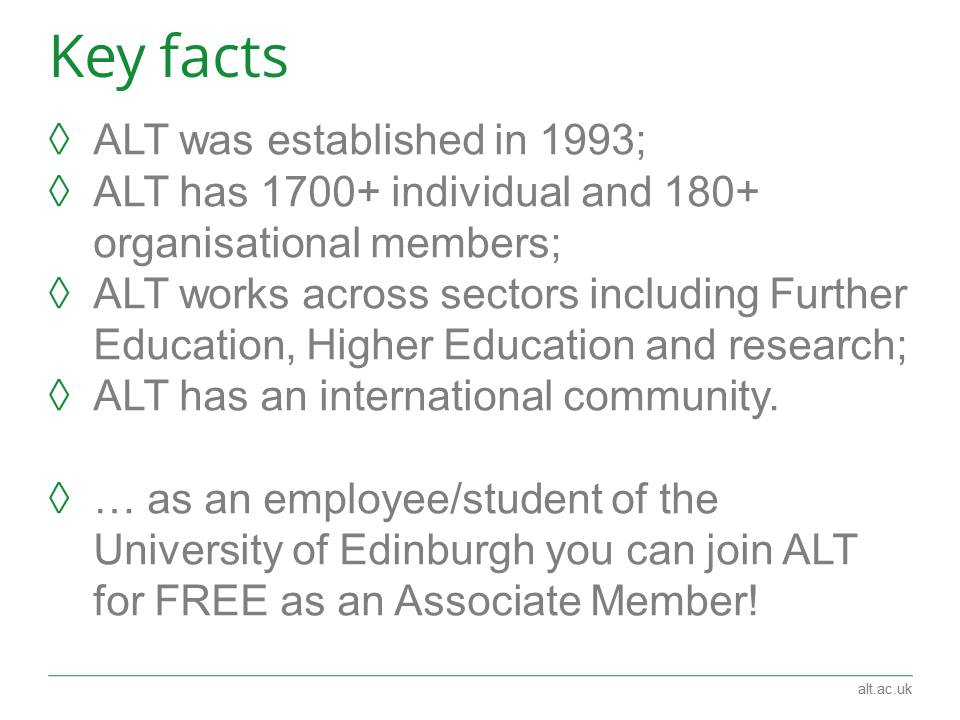 .@A_L_T key facts... Good news @EdinburghUni staff/students can join for free https://t.co/rPV7lUKA1z #elearninged https://t.co/sYQPw4vGuE