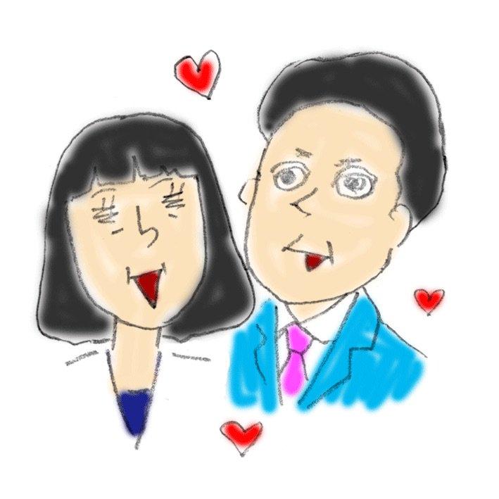 イラスト。6年前に描いた鳩山夫妻。なんで描いたんだろう。 https://t.co/nwj69z56zt