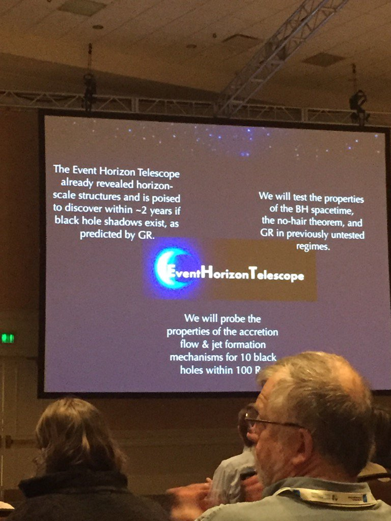 The first picture of a black hole event horizon could come in early 2017, says Feryal Ozel at #aas227 https://t.co/IGs1tPsJpa