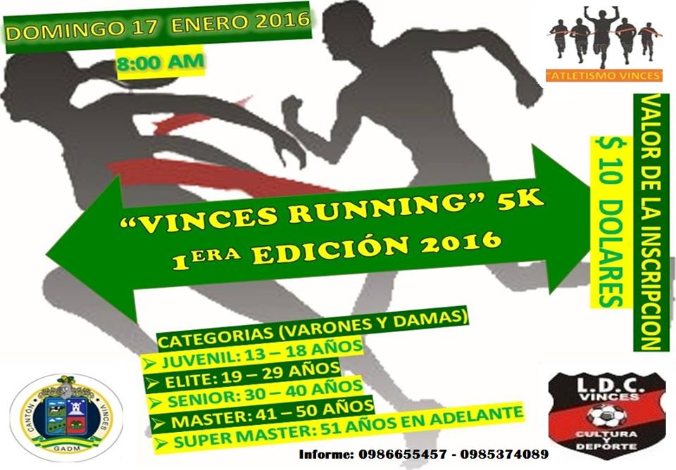 Calendario Supermaster.Carreras Ecuador On Twitter Vinces Running 17 Enero