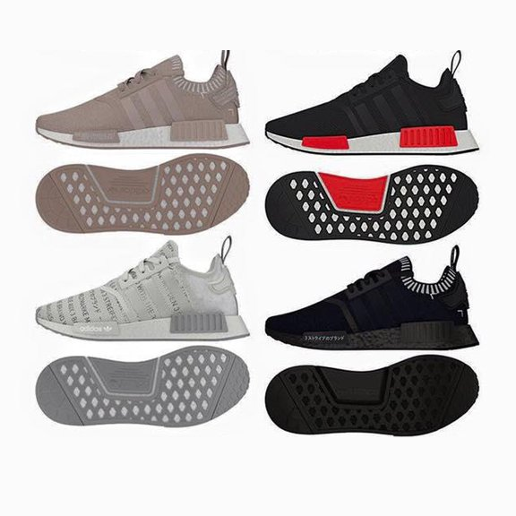 Adidas NMD R1 Core Black Grey Red Glitch Camo Pack Originals