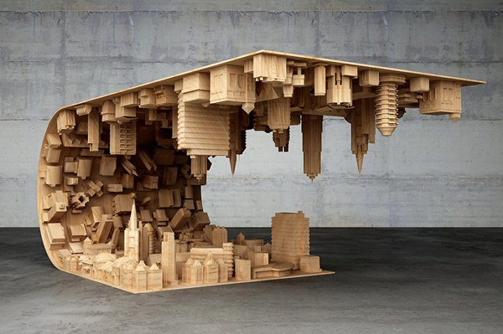 """""""Inception"""" Coffee Table Defies Gravity and Suspends Cityscape in Mid-air - @MyModernMet https://t.co/6bApSUgnes https://t.co/IGy0Tct2L6"""