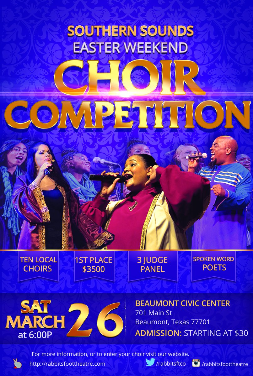 #southernsounds #choircompetition #win2016TX #rabbitsfoottheatre #singingwithapurpose