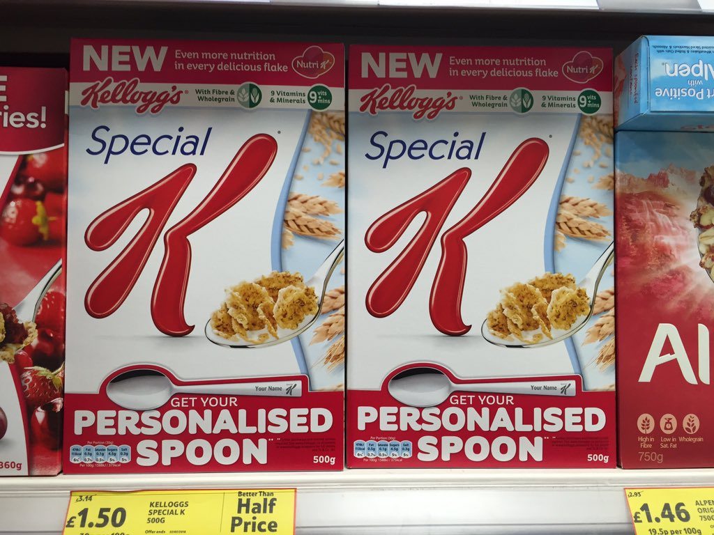 Your challenge is to find the limit of what Special K would willingly engrave on a spoon. https://t.co/IXZntIUziG