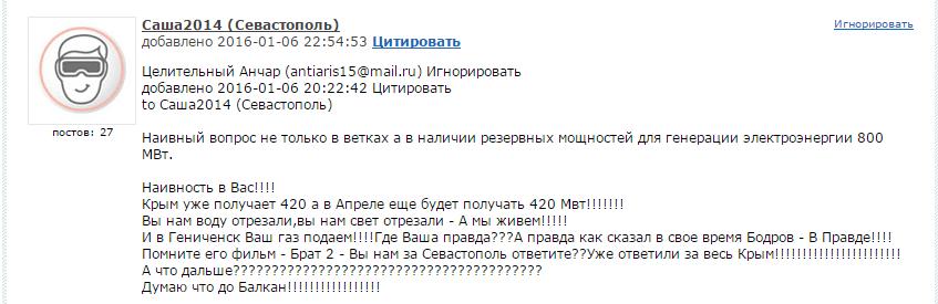 В оккупированном Крыму разрабатывают единый график отключений света - Цензор.НЕТ 8919