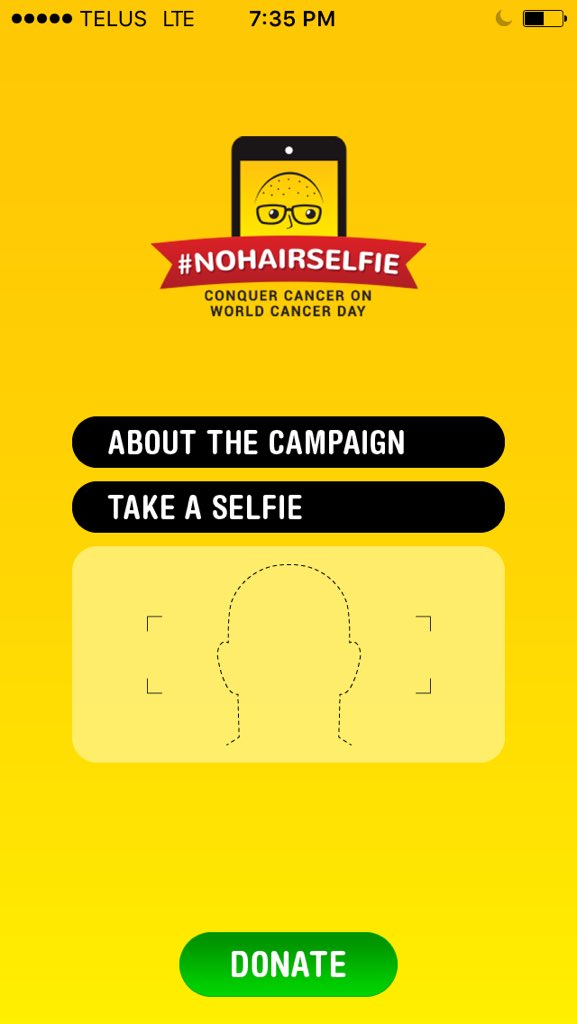 Grab the #nohairselfie app and help raise money for cancer research w/ @thePMCF https://t.co/OGcqYuPAaW https://t.co/dewNCiMUz5