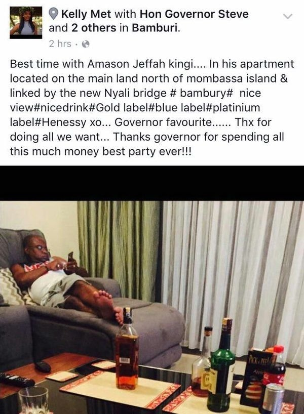 This's what the Kilifi governor is allegedly busy doing while his county titters in abject poverty #Jkl #Politics101 https://t.co/MdTWRjUEYG