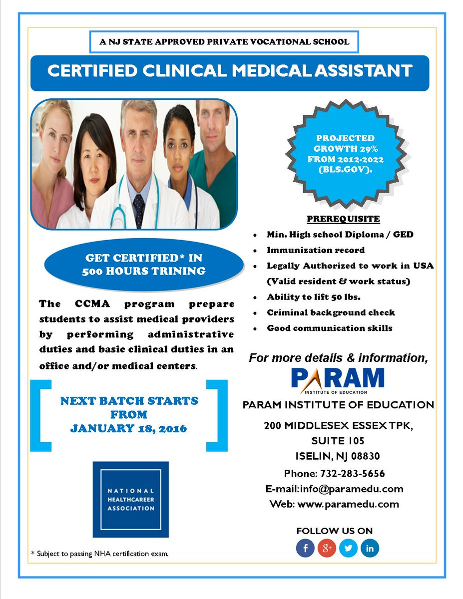 Param On Twitter Trainingannouncement Certified Clinical