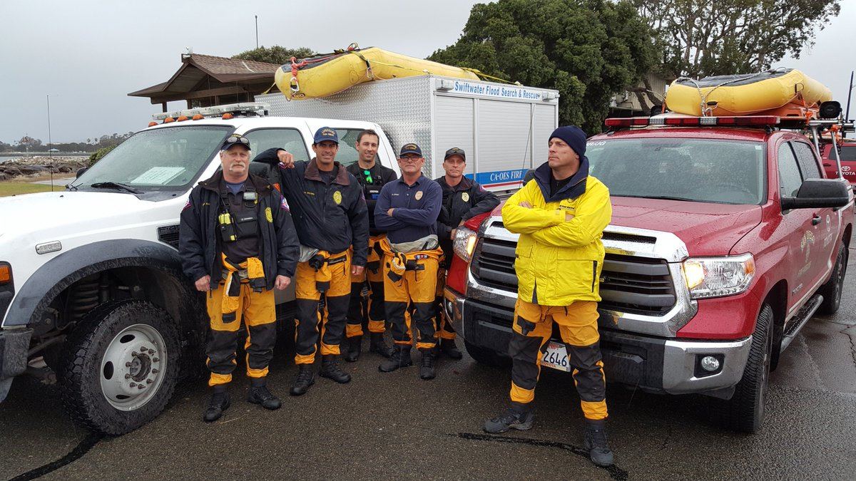 SDLifeguards have 9 three person Swiftwater Rescue units deployed in San Diego Co. anticipating flood conditions. https://t.co/Kw7i20bW0R