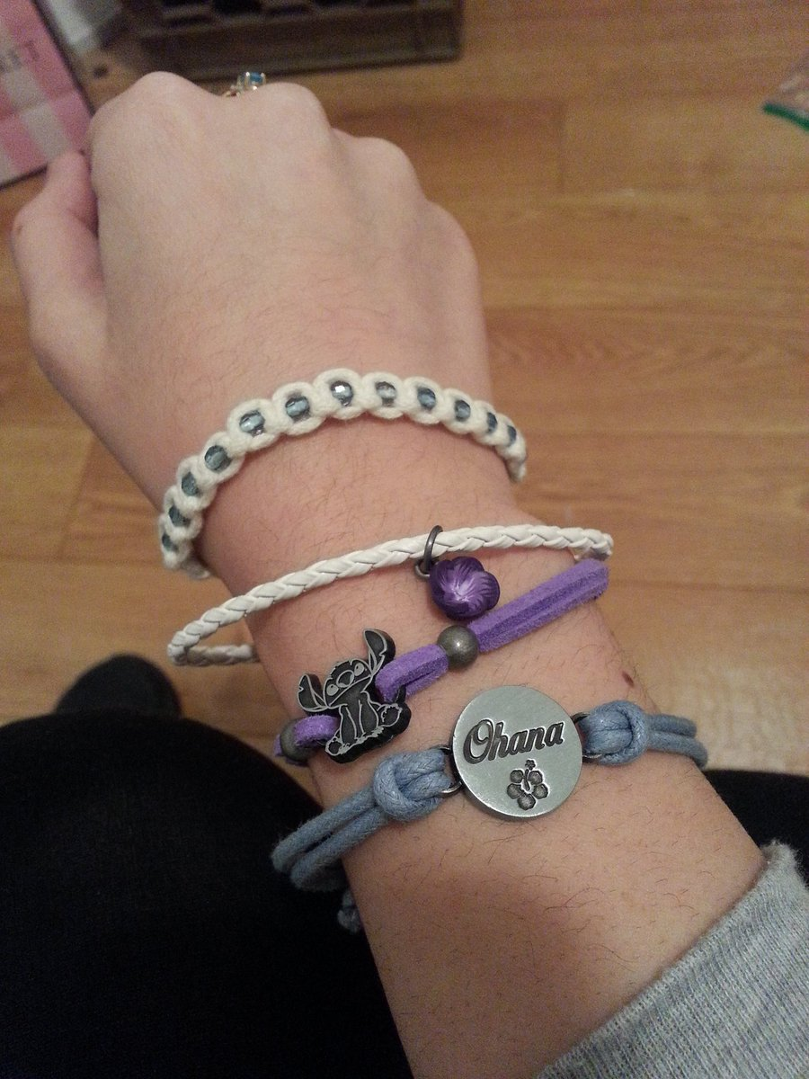 I like purples, blues, and Lilo & Stitch, so obviously I had to get this bracelet set at @HotTopic yesterday. https://t.co/gxpQKqaHKx