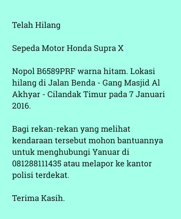 Guys, tolong dibantu ya. Motor semata wayang nih :( https://t.co/VRvBPzwqAM