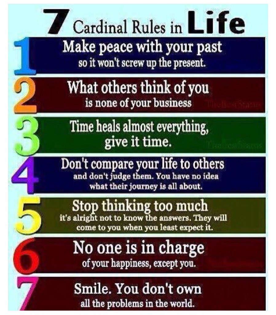 "7 Rules Of Life Quote Wright Thurston On Twitter """"7 Cardinal Rules In Life"