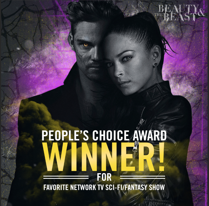 You've spoken, #Beasties! Thank you for choosing #BATB as your Favorite Network Sci-Fi/Fantasy Show! #PCAs https://t.co/aYb1rYm8Hm