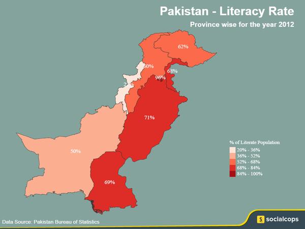 Greg Mortenson On Twitter Pakistan Literacy Rate Map 2012