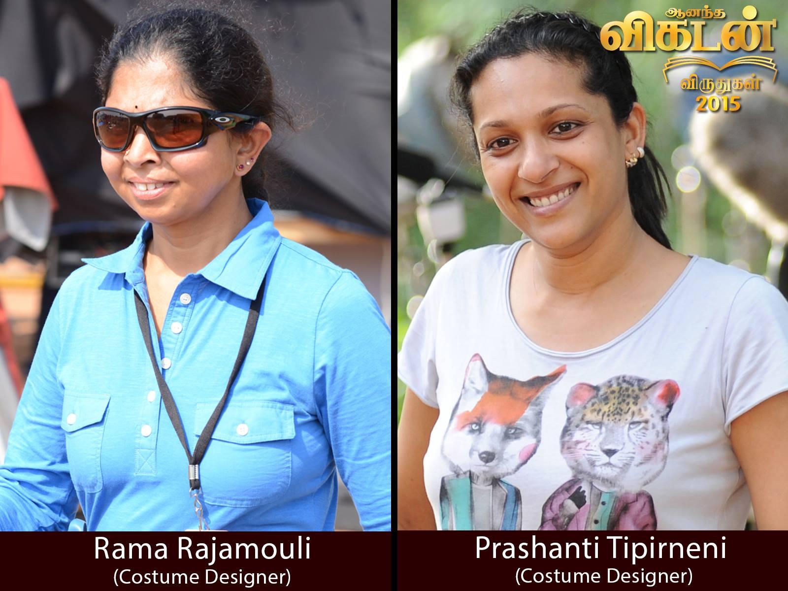 Baahubali On Twitter Congratulations To Our Costume Designers Rama Rajamouli And Prashanti Tipirneni Vikatanawards2015 ப க பல Https T Co Itgzy66bf1