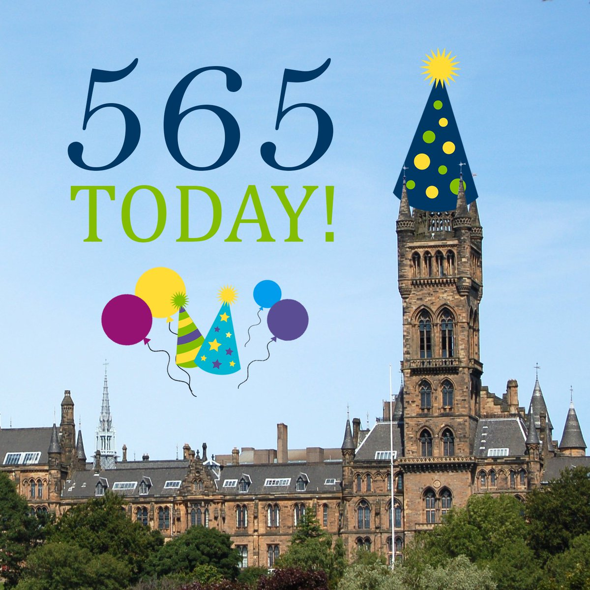 Happy Birthday to Us! We're 565 years young today, still looking fabulous don't you think? #UofG565 https://t.co/AsWwx0Euwg