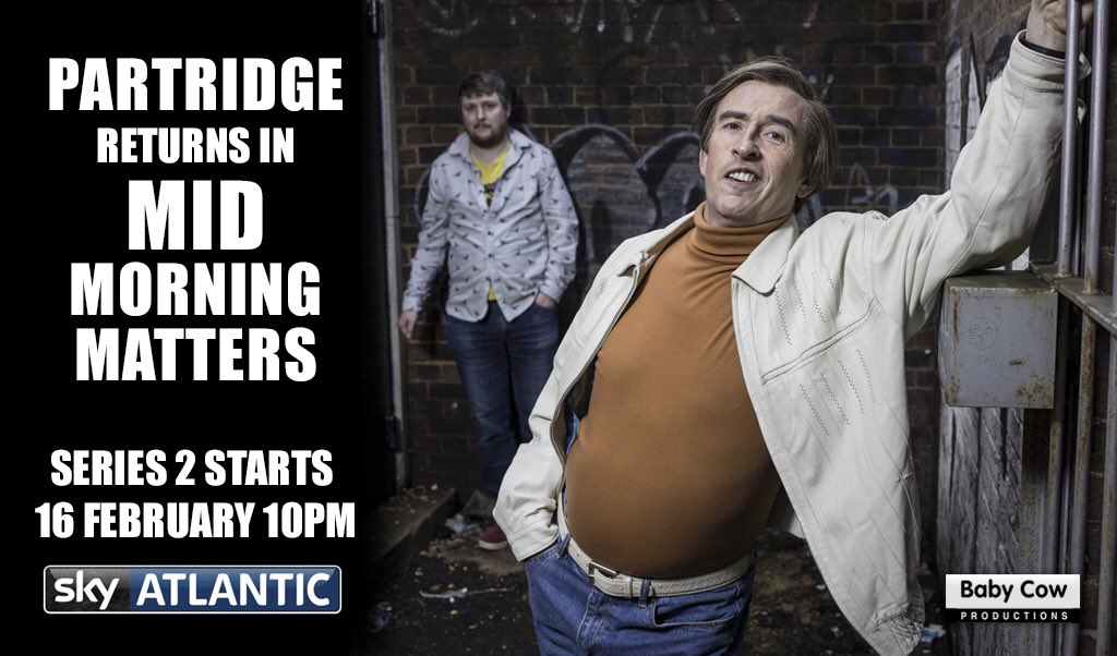 Alan is back on air... #alanpartridge #stevecoogan https://t.co/cGLUCnm7xi