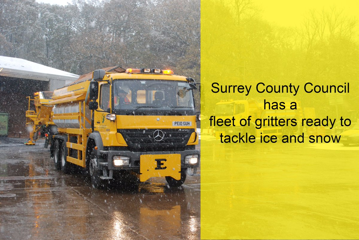 Gritters will be out in force across Surrey from 6.30pm with temperatures expected to dip to -0.9C overnight #Winter https://t.co/fOEPpwgwkh