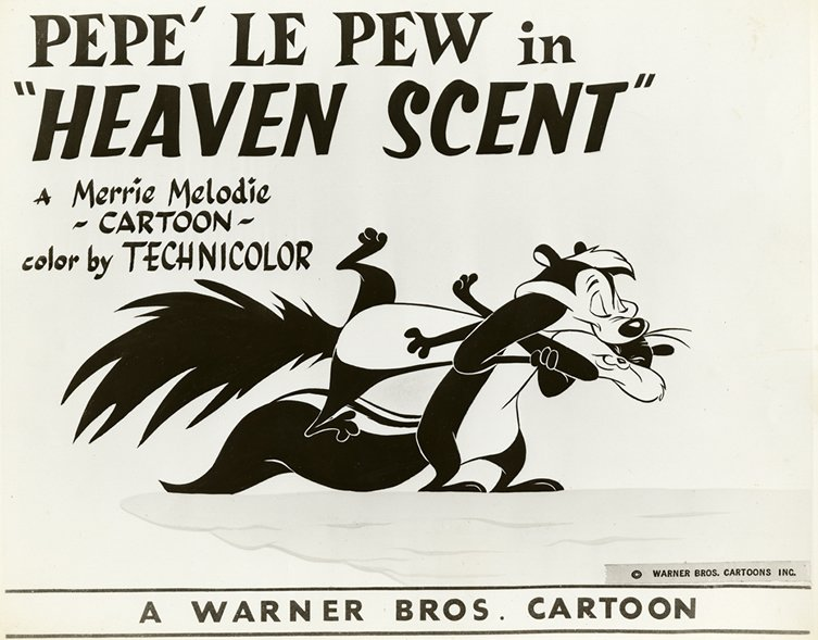 "Your favorite skunk is 71 years young today. Here in the 1956 film ""Heaven Scent."" Pepé is a #ChuckJones creation. https://t.co/N22Tm0SjsL"