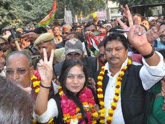 वाराणसी जिला पंचायत अध्यक्ष पद पर सपा की अपराजिता विजयी,पीएम #Modi के संसदीय क्षेत्र वाराणसी में #BJP को फिर झटका https://t.co/yleEp9l4HK
