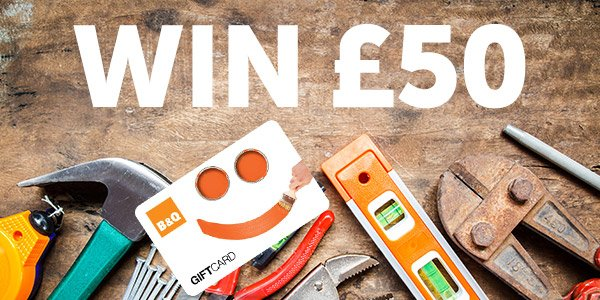 Starting some new year's DIY? Follow&RT us to win a £50 B&Q gift voucher! https://t.co/NcDXtyFnh4 #giveaway #win https://t.co/9VN4dNJS1C