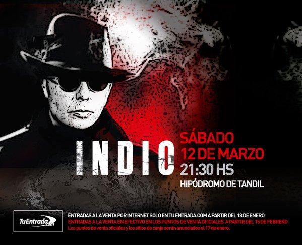Confirmado #INDIO SABADO 12 DE MARZO, HIPODROMO DE TANDIL  info @Redonditos_D_A https://t.co/mgVfMVXZMY https://t.co/EHLHgthe8A