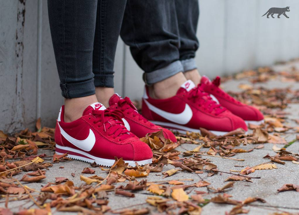huge selection of ad69c 92561 ナイキ クラシック コルテッツ ナイロン ジムレッド ホワイト(807472-611) ⇒ Nike Classic Cortez Nylon  Schuhe gym red white . ...