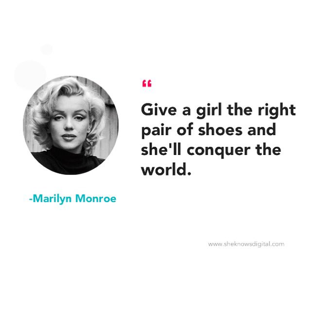 Give a girl the right pair of shoes and she will conquer the world. #quotes #Motivational https://t.co/TFRhnWu5Fg