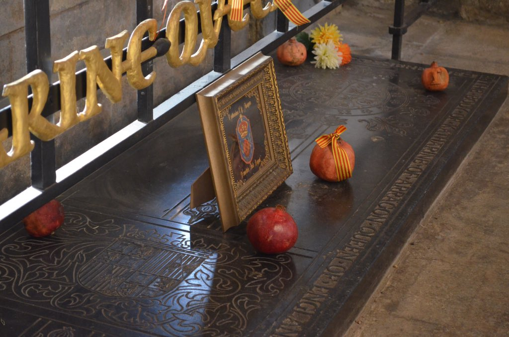 Katharine of Aragon's tomb at @pborocathedral https://t.co/GEAe5ITXTM