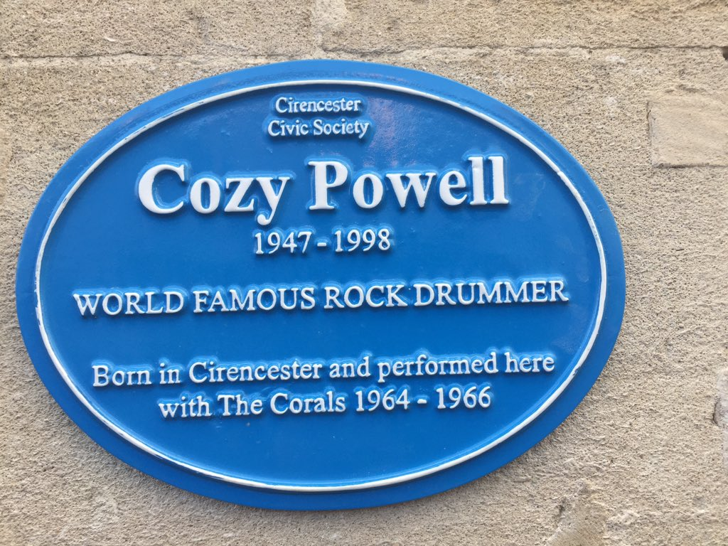#Cozy Powell remembered in his home town of #Cirencester https://t.co/gkj6QfkJyM