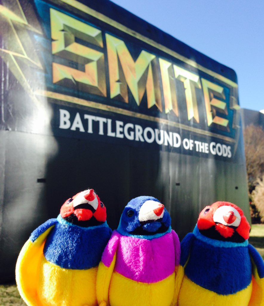 The birds have landed at #SWC! @SmitePro https://t.co/TFs6rt7oEM