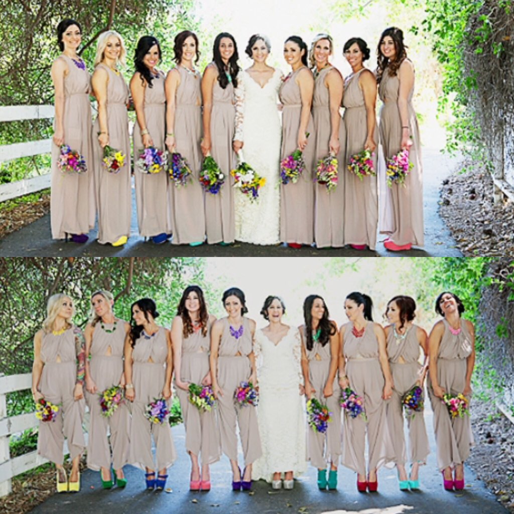 House Of Ollichon On Twitter A Great Example Injecting Personality Into The Bridesmaids Tone Jumpsuits Jumpsuit Wedding