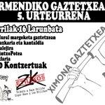 Image for the Tweet beginning: URTARRILAK 16 XIMONA GAZTETXEAREN V.