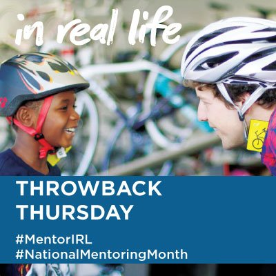 Today is #MentorIRL #ThrowbackThursday! Post your favorite photo with your mentor! #NationalMentoringMonth https://t.co/2CMo1I9hvU