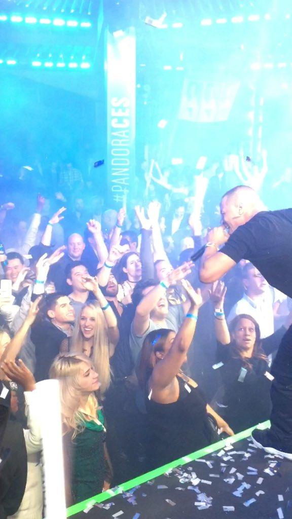 Dope show lastnight!!! #PandoraCES Thank you @pandora_radio