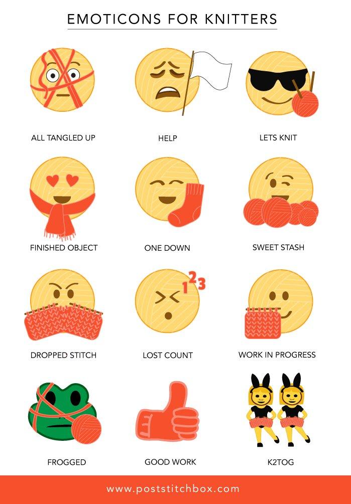 Love 'em: Emoticons for Knitters https://t.co/uN0reBlcVH Thanks #HelenBurdickWatson https://t.co/l1QcAlEK1Y