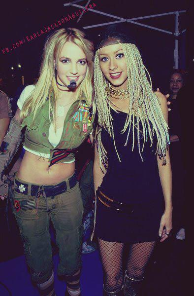 Christina aguilera and britney spears 90s