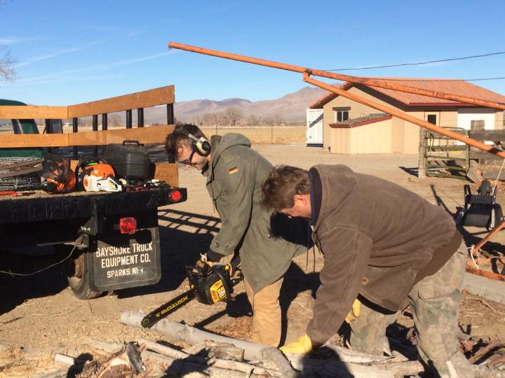 #TBT to wood cutting with @HarrisCHeller last week in Nevada. #HomeMeansNevada