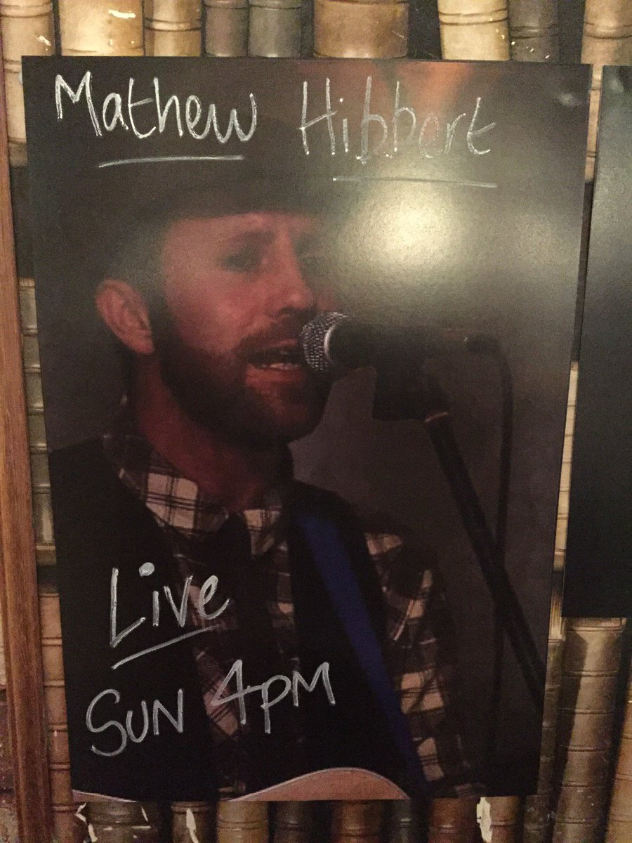 Mattew Hibbert is playing Sunday 10th Jan 4pm. Come down and enjoy some live music, with a drink!! FREE ENTRY