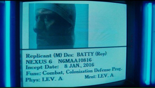Welcome to the World, Roy Batty!