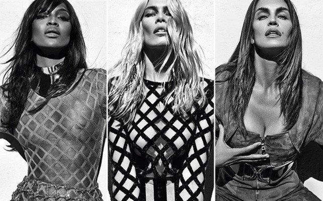 Moda: Cindy Crawford, Claudia Schiffer e Naomi Campbell fotografate insieme