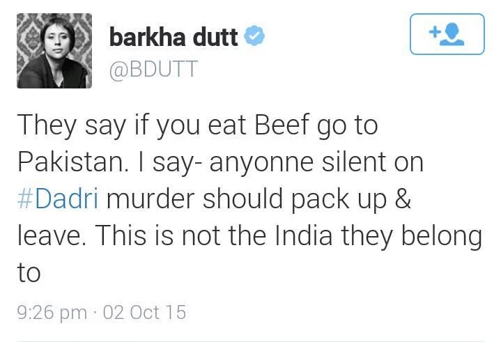 "Wat @bdutt didnt say""I say-anyonne silent on #MaldaRiots should packup & leave.This is not the India they belong to"" https://t.co/85EoDHrgYH"