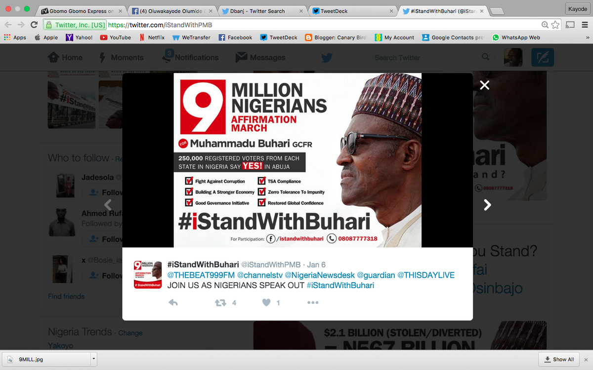 Stand with Buhari Marh