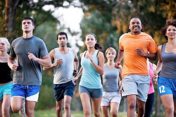 course à pied s'entrainer