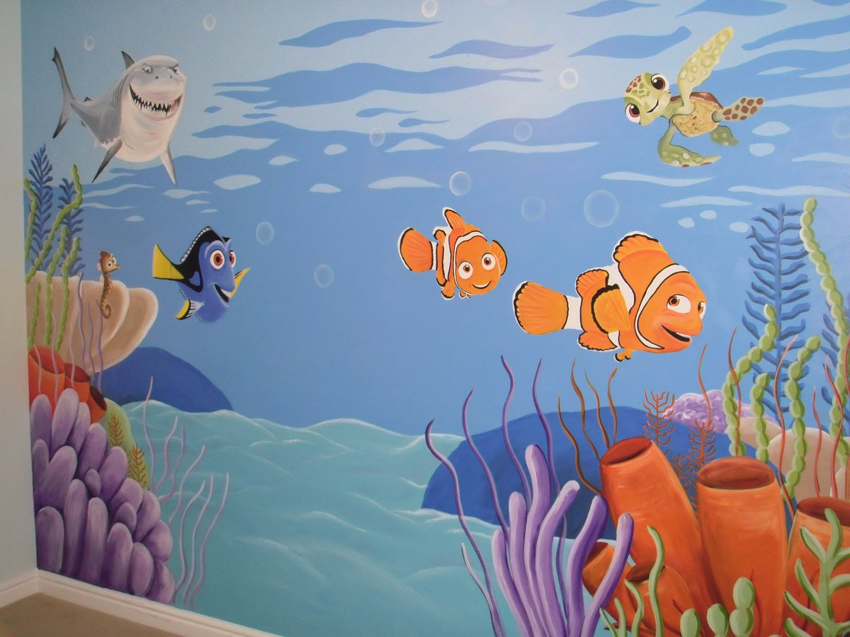 Great Finding Nemo Custom Murals Nursery Part 25