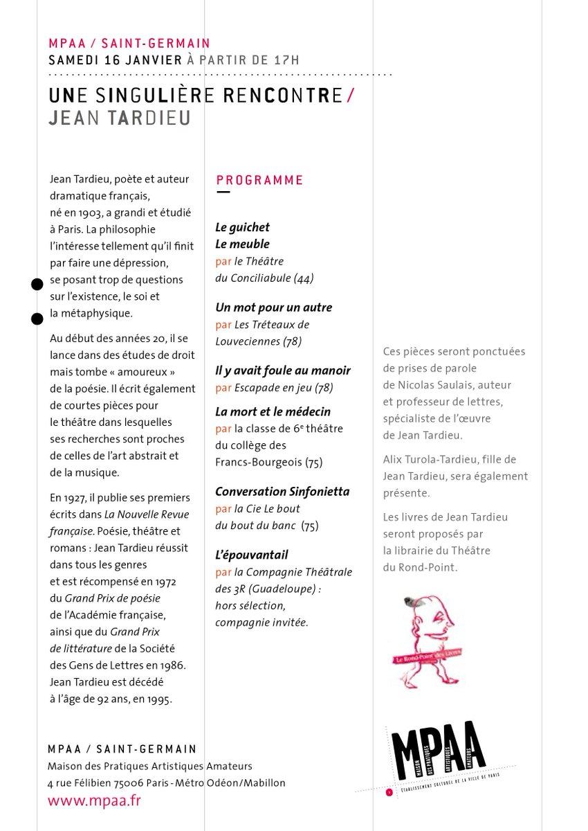 Fnctacd75 On Twitter Théâtre Singulière Rencontre 20