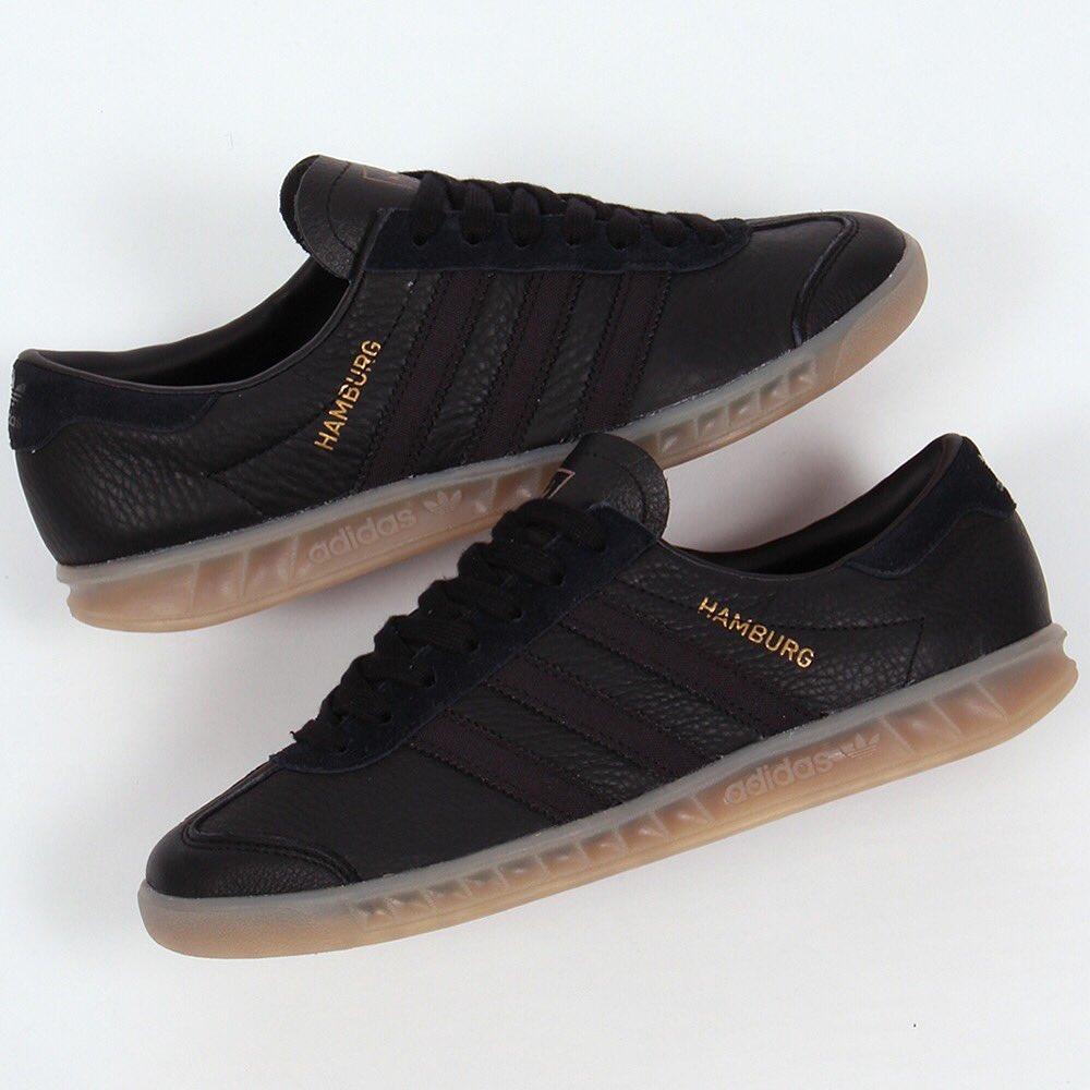 adidas hamburg leather black