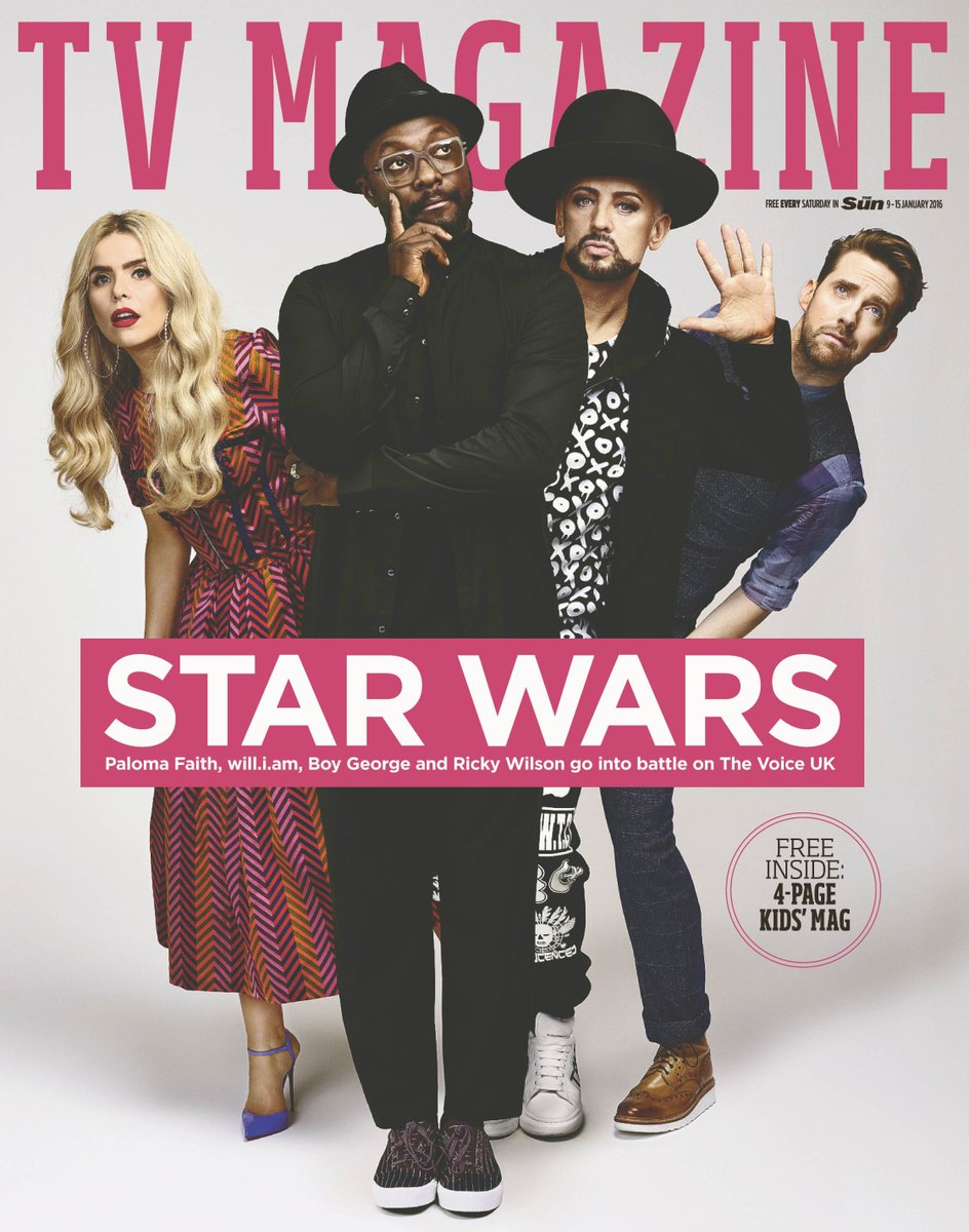 @iamwill @BoyGeorge @Palomafaith and @Rickontour? It can only mean one thing… an exclusive @BBCTheVoiceUK cover! https://t.co/P2PG0wHHcc