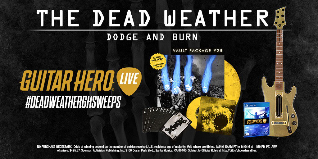 #TheDeadWeather fans… RT to win a TDW prize pack! Head here for more: https://t.co/xTYxNGO2E0 #DeadWeatherGHSweeps https://t.co/eed5BBeCvn