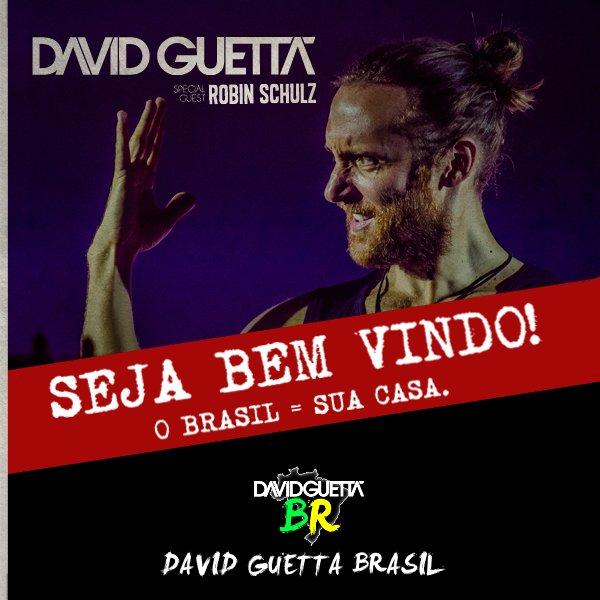 A ESPERA ACABOU! Seja bem-vindo, David Guetta! WELCOME AGAIN! The legend is ready to party in Brazil. #davidguetta https://t.co/YQmzByHtx0